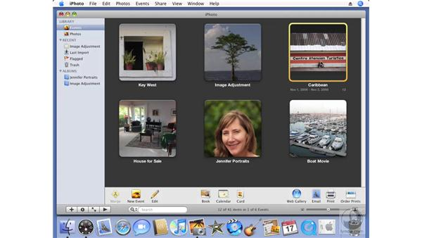 Auto-splitting an event: iPhoto '08 Essential Training