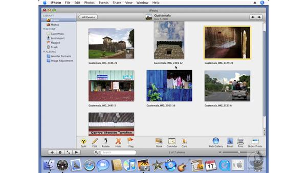 Renaming your photos and events: iPhoto '08 Essential Training