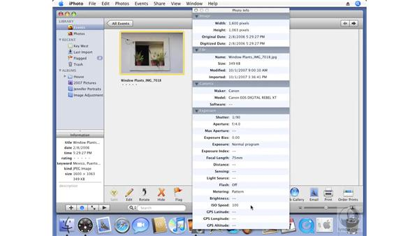 Understanding EXIF and IPTC metadata: iPhoto '08 Essential Training