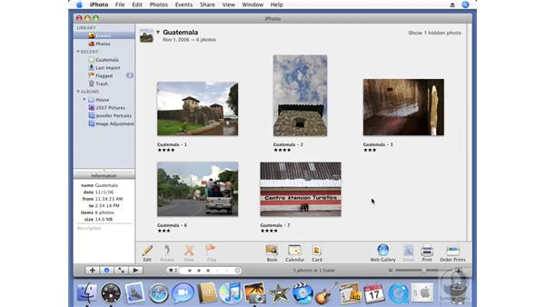 Finding photos by rating: iPhoto '08 Essential Training