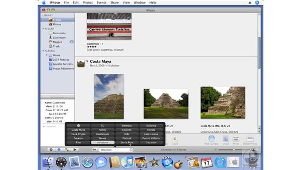 Finding photos by keyword: iPhoto '08 Essential Training