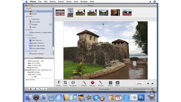 Duplicating photos: iPhoto '08 Essential Training