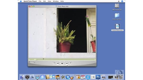 Exporting a slideshow to QuickTime: iPhoto '08 Essential Training