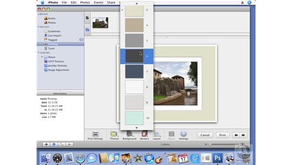 Printing photos: iPhoto '08 Essential Training
