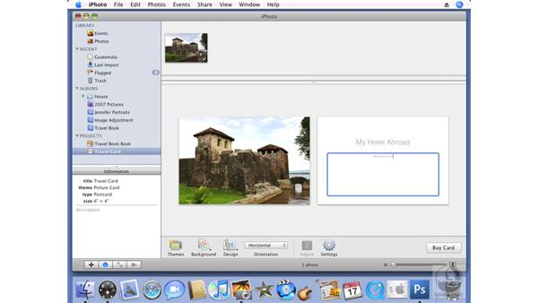 Creating greeting cards: iPhoto '08 Essential Training