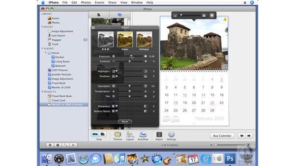 Creating a calendar: iPhoto '08 Essential Training