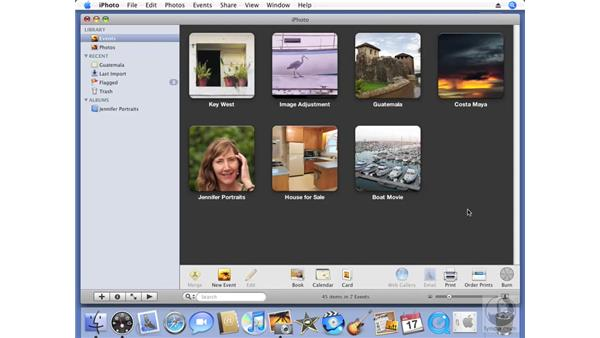 Burning a backup CD or DVD: iPhoto '08 Essential Training