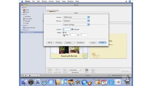 Creating custom title slides: iPhoto '08 Essential Training