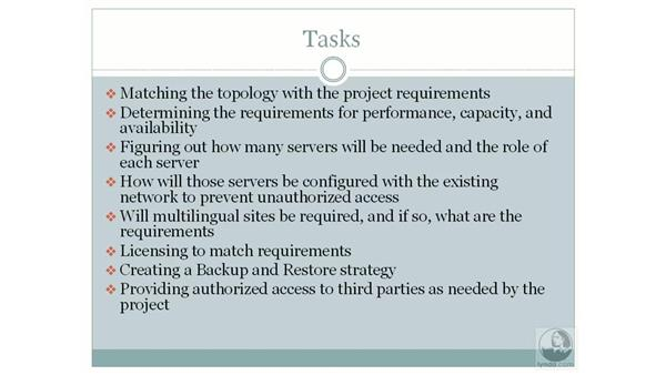 Physical planning considerations: SharePoint 2007 Essential Training