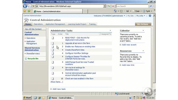 Modifying a site template: SharePoint 2007 Essential Training