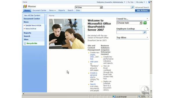 MOSS collaboration portals: SharePoint 2007 Essential Training