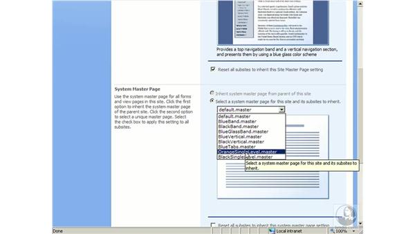 Using master pages and style sheets: SharePoint 2007 Essential Training