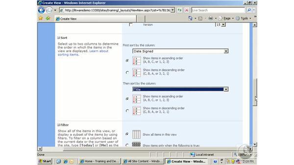 Creating views: SharePoint 2007 Essential Training