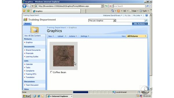 Working with picture libraries: SharePoint 2007 Essential Training