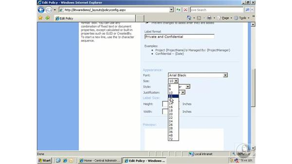 Understanding site collection policy: SharePoint 2007 Essential Training