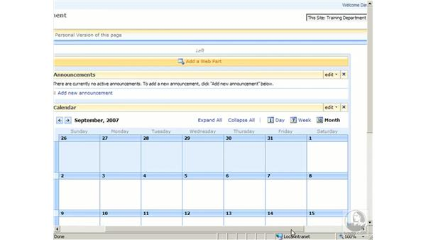 Personalizing pages: SharePoint 2007 Essential Training