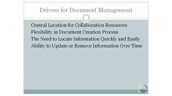 Business drivers for document management: SharePoint 2007 Essential Training