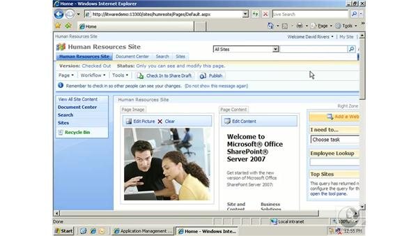 Changing and deleting components: SharePoint 2007 Essential Training