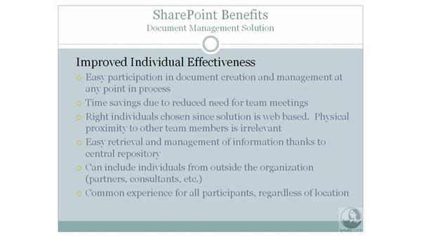 Creating effective document management solutions: SharePoint 2007 Essential Training