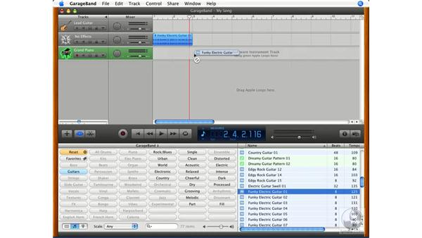 Real and software loops: GarageBand '08 Essential Training