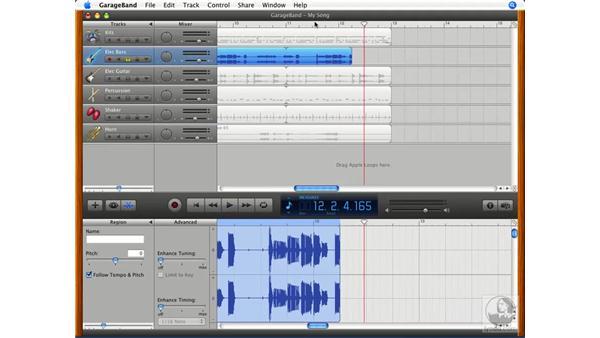 Transposing loops: GarageBand '08 Essential Training