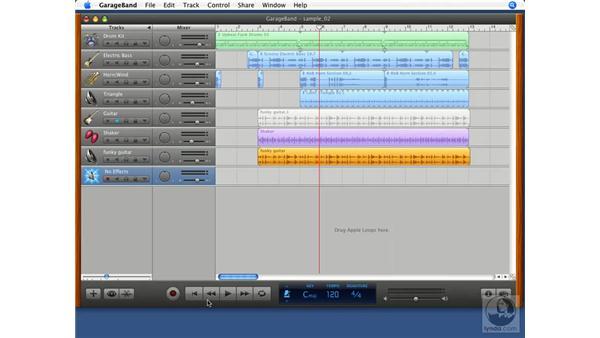 Importing audio tracks: GarageBand '08 Essential Training