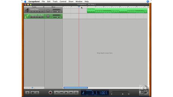 Adding another track: GarageBand '08 Essential Training