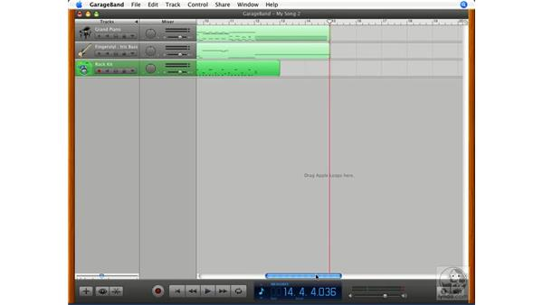Cycle recording: GarageBand '08 Essential Training