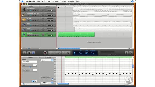 Creating a click track: GarageBand '08 Essential Training