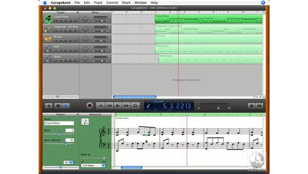 Editing and printing musical notation: GarageBand '08 Essential Training