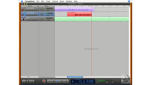 Recording a real instrument track: GarageBand '08 Essential Training