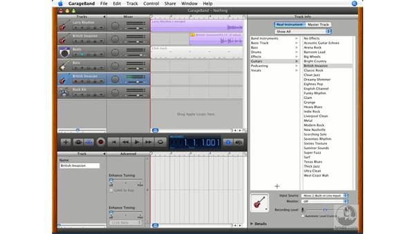 Multi-track recording: GarageBand '08 Essential Training