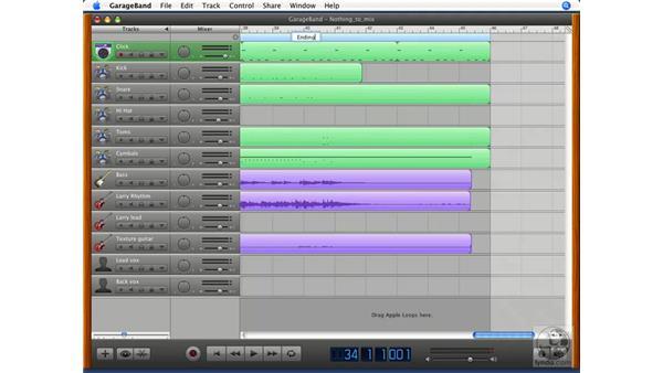 Defining and editing arrangements: GarageBand '08 Essential Training
