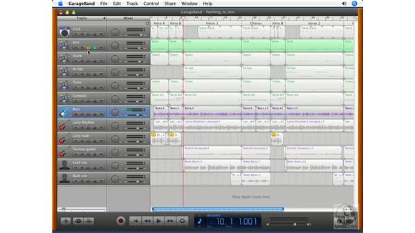 Editing and mixing: GarageBand '08 Essential Training