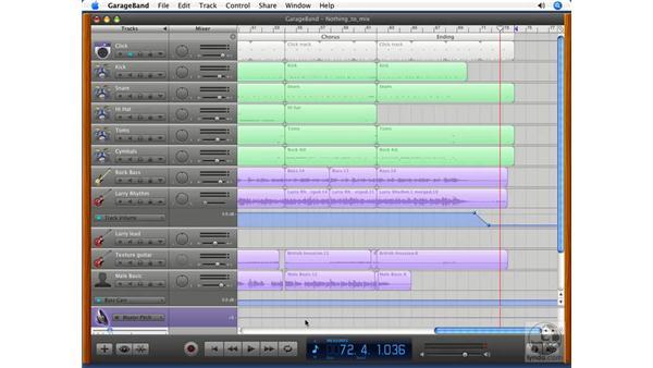 The Master track: GarageBand '08 Essential Training