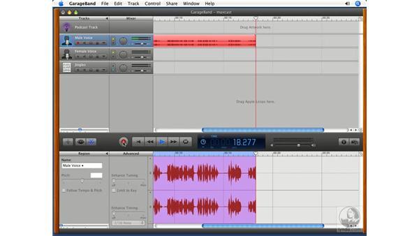 Recording a voice track: GarageBand '08 Essential Training