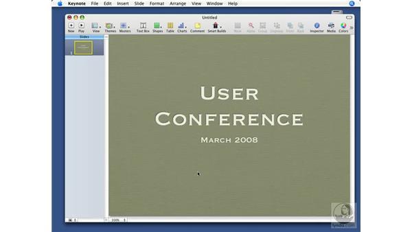 Text box types: Keynote '08 Essential Training