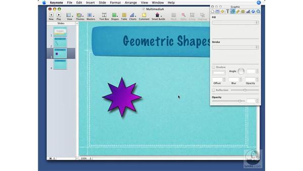 Inserting shapes: Keynote '08 Essential Training
