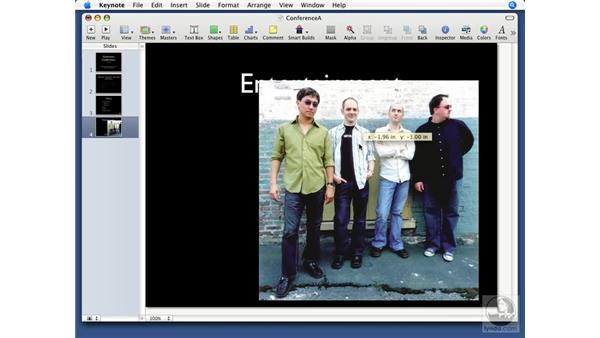 Inserting photos: Keynote '08 Essential Training