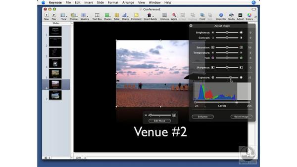 Adjusting images: Keynote '08 Essential Training