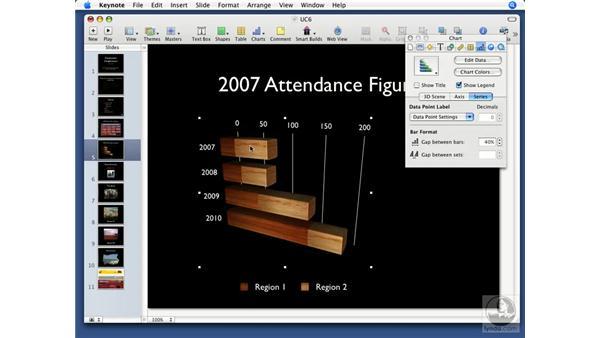 Chart types: Keynote '08 Essential Training