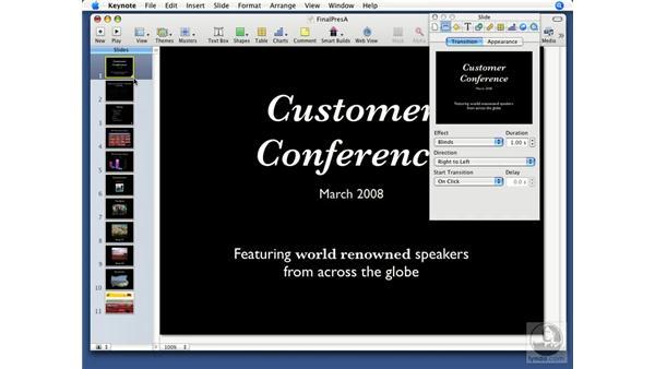 Creating transitions: Keynote '08 Essential Training