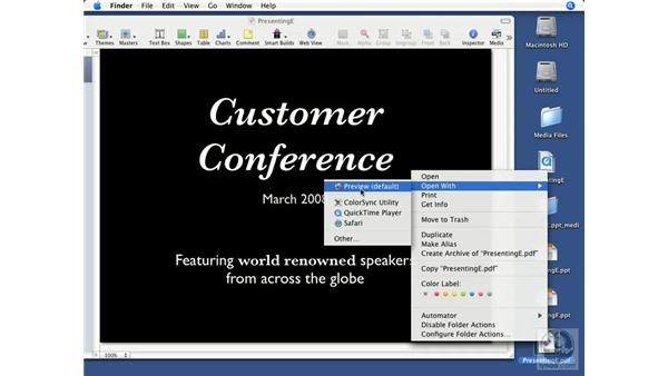Exporting to PDF: Keynote '08 Essential Training