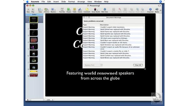 Exporting to Flash: Keynote '08 Essential Training