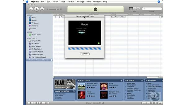 Exporting to an iPod: Keynote '08 Essential Training