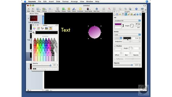 Customizing standard objects: Keynote '08 Essential Training