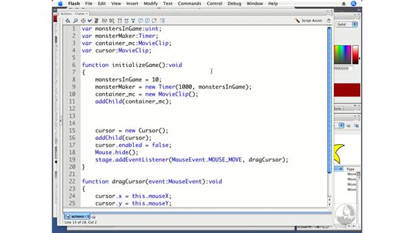 Creating dynamically moving enemies: ActionScript 3.0 Projects: Game Development