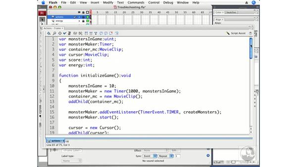Troubleshooting your game: ActionScript 3.0 Projects: Game Development