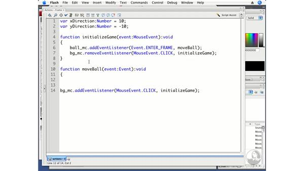 Making the ball bounce: ActionScript 3.0 Projects: Game Development