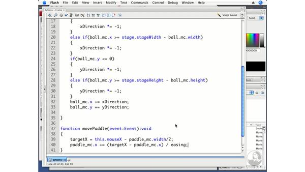 Creating and moving a paddle: ActionScript 3.0 Projects: Game Development